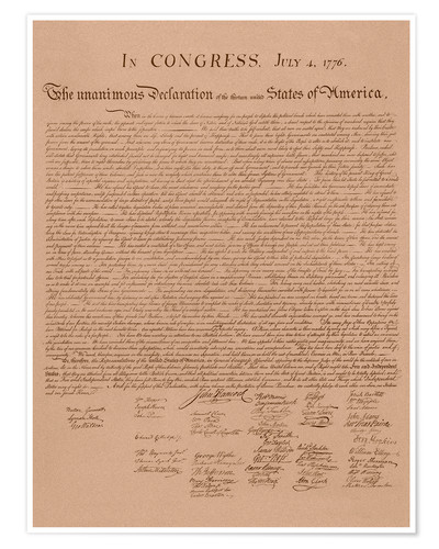 Póster United States Declaration of Independence