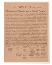 Póster  United States Declaration of Independence - John Parrot