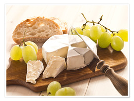Póster  Cheese and grapes - Edith Albuschat