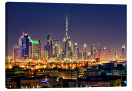 Lienzo  Dubai skyline at night - Stefan Becker