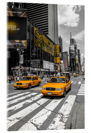 Metacrilato  Yellow Cabs cruisin on the Time Square 2 - Hannes Cmarits