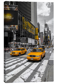 Lienzo  Taxis amarillos en Time Square 2 - Hannes Cmarits