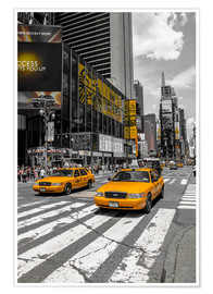 Póster  Yellow Cabs cruisin on the Time Square 2 - Hannes Cmarits