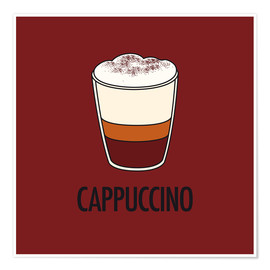 Póster Cappuccino, for the italian lover in you!