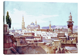 Lienzo  A View of Damascus - Charles Pierron