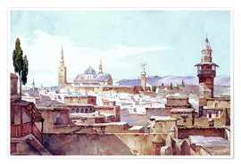 Póster  A View of Damascus - Charles Pierron