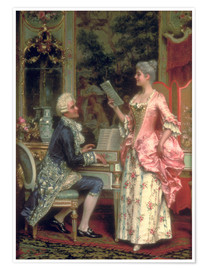 Póster  The Singing Lesson - Arturo Ricci