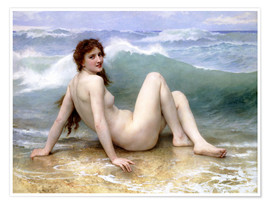 Póster  The Wave - William Adolphe Bouguereau