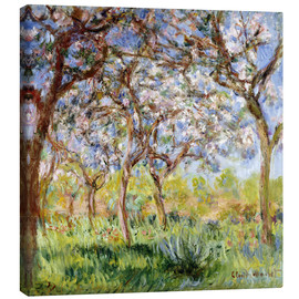 Lienzo  Spring at Giverny - Claude Monet