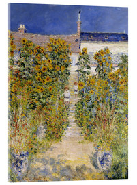 Cuadro de metacrilato  The Artist's Garden at Vetheuil - Claude Monet