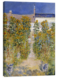 Lienzo  The Artist's Garden at Vetheuil - Claude Monet