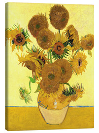 Lienzo  Sunflowers - Vincent van Gogh
