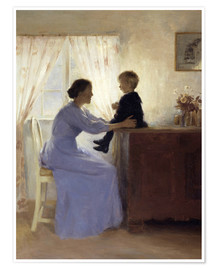 Póster  Mother and Child - Peter Vilhelm Ilsted