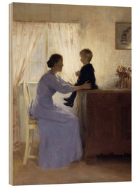 Cuadro de madera  Mother and Child - Peter Vilhelm Ilsted