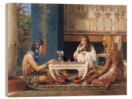 Cuadro de madera  Egyptian Chess Players - Lawrence Alma-Tadema