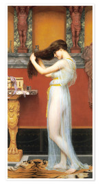 Póster  The Toilet - John William Godward