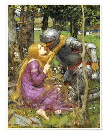 Póster  Un estudio para La Belle Dame sans Merci - John William Waterhouse
