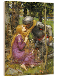 Cuadro de madera  Un estudio para La Belle Dame sans Merci - John William Waterhouse