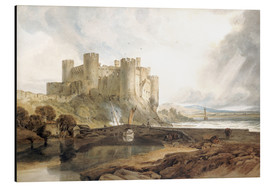 Cuadro de aluminio  Conway Castle, c.1802 - Joseph Mallord William Turner