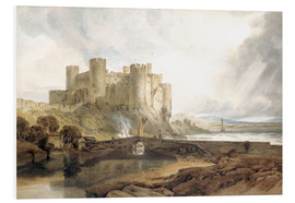 Cuadro de PVC  Conway Castle, c.1802 - Joseph Mallord William Turner