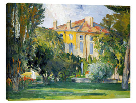 Lienzo  The House at Jas de Bouffan - Paul Cézanne