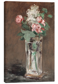 Lienzo  Flowers in a Crystal Vase - Edouard Manet