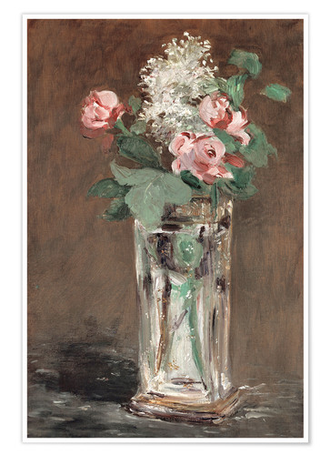 Póster Flowers in a Crystal Vase