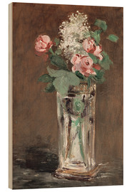 Cuadro de madera  Flowers in a Crystal Vase - Edouard Manet