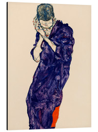 Aluminio-Dibond  Youth with violet frock - Egon Schiele
