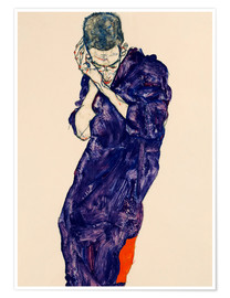 Póster  Youth with violet frock - Egon Schiele
