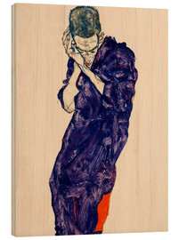 Madera  Youth with violet frock - Egon Schiele