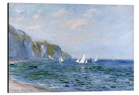 Aluminio-Dibond  Rocks and sailing boats in Pourville - Claude Monet