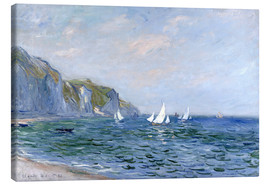 Lienzo  Rocks and sailing boats in Pourville - Claude Monet