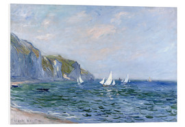 Forex  Rocks and sailing boats in Pourville - Claude Monet