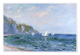 Claude Monet - Rocks and sailing boats in Pourville
