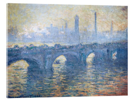 Cuadro de metacrilato  River Thames in London, Waterloo Bridge - Claude Monet