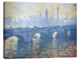 Lienzo  Puente de Waterloo - Claude Monet