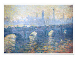 Póster  Puente de Waterloo - Claude Monet