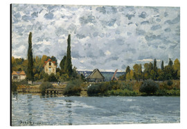 Cuadro de aluminio  The Seine at Bougival - Alfred Sisley