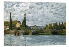 Cuadro de PVC  The Seine at Bougival - Alfred Sisley