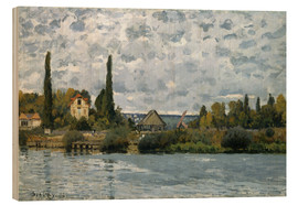 Cuadro de madera  The Seine at Bougival - Alfred Sisley