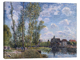 Lienzo  The Loing in Moret in May - Alfred Sisley