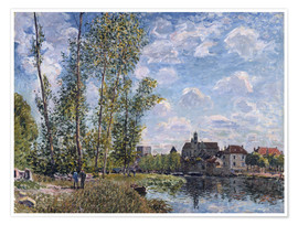 Póster  The Loing in Moret in May - Alfred Sisley