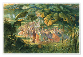 Póster  Fairy Dance in a Clearing - Richard Doyle