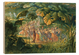 Cuadro de madera  Fairy Dance in a Clearing - Richard Doyle
