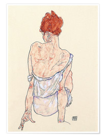 Póster  Female back - Egon Schiele