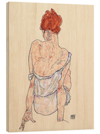 Madera  Female back - Egon Schiele