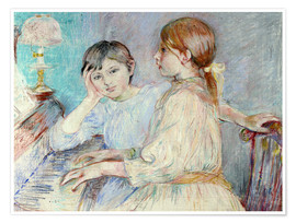 Póster  The Piano - Berthe Morisot