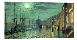 Cuadro de metacrilato  City Docks by Moonlight - John Atkinson Grimshaw