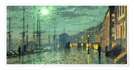 Póster  City Docks by Moonlight - John Atkinson Grimshaw
